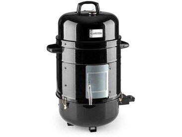 Klarstein 3-in-1 BBQ-Grill Elektrogrill Smoker 1800W 3x40cm Thermometer »Barney«, schwarz, schwarz