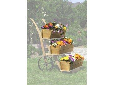 promadino PROMADINO Set: Blumenkasten , 3 Stk., honigbraun, BxTxH: je 68x24x17 cm, braun, 68 cm, 3 Stk., braun