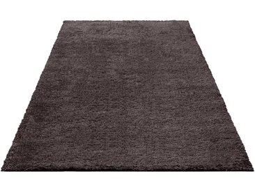 Bruno Banani Hochflor-Teppich »Shaggy Soft«, rechteckig, Höhe 30 mm, braun, 30 mm, rubber