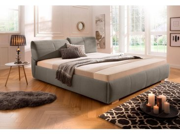 Home affaire Polsterbett »Solaris«, 5 Breiten, auch in Überlänge: 220cm, verstellbares Kopfteil, braun, 200x200 cm, braun