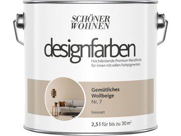 SCHÖNER WOHNEN-Kollektion SCHÖNER WOHNEN FARBE Farbe »Designfarben«, Gemütliches Wollbeige Nr. 7, feinmatt 2,5 l, natur, 2.5 l