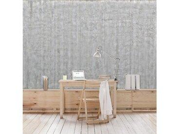 Bilderwelten Beton Vliestapete Breit »Große Wand mit Betonlook«, grau, 190x288 cm, Grau