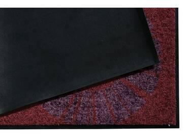 Salonloewe SALONLOEWE Fußmatte, rot, dunkelrot/grau