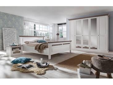 Premium collection by Home affaire Home affaire 4-teiliges Schlafzimmer-Set »Lugano«, 5-trg Schrank, Bett 180/200 cm, 2 Nachttische