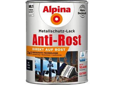 Alpina ALPINA Metallschutzlack »Anti-Rost - Matt Schwarz«, 3in1, 2,5 l, schwarz, schwarz
