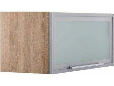 OPTIFIT Klapphängeschrank, Breite 80 cm, grau, alufarben/eichefarben-hell