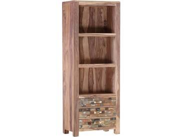 Gutmann Factory Regal »Patchwork« aus massivem Sheesham Holz, Höhe 180 cm, natur, natur/bunt