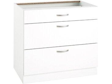 wiho Küchen Unterschrank »Flexi« Breite 90 cm, weiß, Weiß matt
