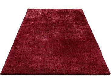 Bruno Banani Hochflor-Teppich »Dana«, rechteckig, Höhe 30 mm, Besonders weich durch Microfaser, rot, burgund