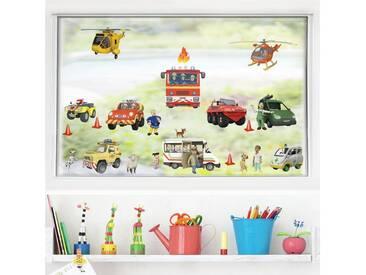 Bilderwelten Fenstersticker »Feuerwehrmann Sam - Mega Set 22-teilig«, bunt, Farbig