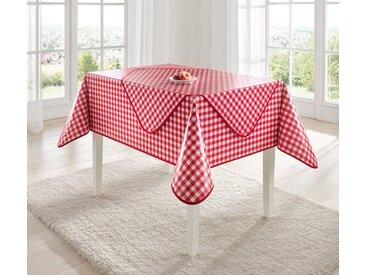 Tischdecke, rot, rot