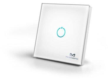 Z-Wave Smart Home Zubehör »Glas-Wandschalter (1 Taste) - «, weiß, Weiß