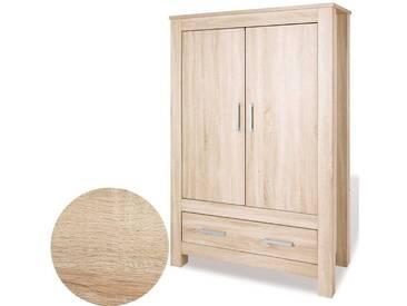 Pinolino® Kleiderschrank CARUS, 2-türig, Eiche Echtholzstruktur, holzfarben