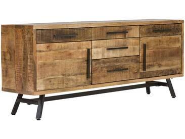 massivum Sideboard aus Mango massiv »Woodheven«, natur, 180x71x40cm, natur