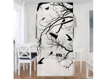 Bilderwelten Raumteiler 250x120cm »Vintage Tree in the Sky«, weiß, ohne Halterung, Weiß