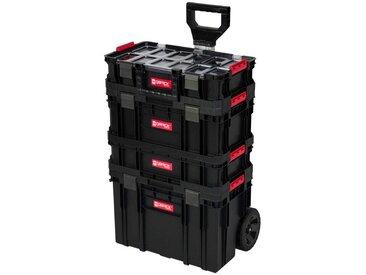 Kreher KREHER Werkzeugtrolley 4-tlg., 3 Boxen, 1 Trolley, schwarz, schwarz