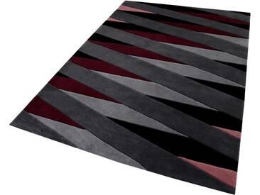Esprit Teppich »Lamella«, rechteckig, Höhe 10 mm, reine Schurwolle, rot, 10 mm, bordeaux