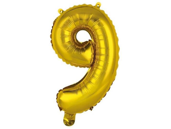 BUTLERS UPPER CLASS »Folienballon 9 «, gold, Breite 30 x Tiefe 45 x Gold