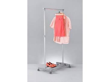 Zeller Present ZELLER Kleiderständer »Roll-Kleiderständer, mit Ablage«, silberfarben, silber