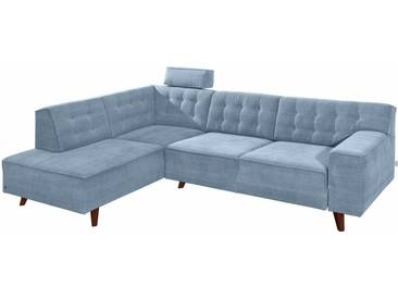 Tom Tailor Ecksofa »Nordic Chic«, blau, 249 cm, Ottomane links, sky blue TUS 6