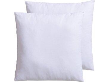 f.a.n. Frankenstolz Microfaserkissen, »Kissenparade«, Bezug: 100% Baumwolle, (2-tlg), Allround-Kissen im Spar-Set, weiß, weiß