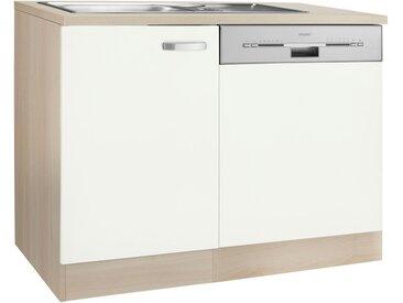OPTIFIT Spülenschrank »Faro«, mit Tür/Sockel für Geschirrspüler, weiß, weiß matt