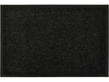 HANSE Home Fußmatte »Wash & Clean«, rechteckig, Höhe 7 mm, waschbar, schwarz, 7 mm, schwarz