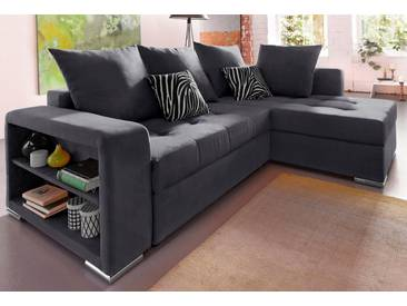 COLLECTION AB Ecksofa, mit Bettfunktion, grau, 226 cm, anthrazit