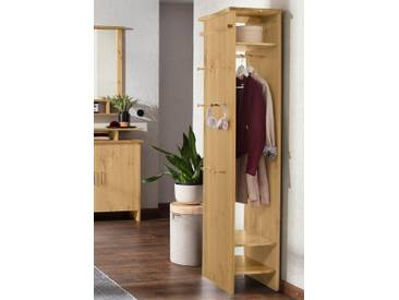 Home affaire Garderobenschrank »Ixo« im zeitlosen Design, natur, natur geölt