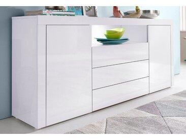borchardt Möbel Borchardt Möbel Sideboard, Breite 166 cm, weiß, Weiß-Hochglanz