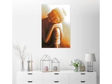 Posterlounge Wandbild - Christine Ganz »Ruhender Buddha V«, bunt, Leinwandbild, 120 x 180 cm, bunt