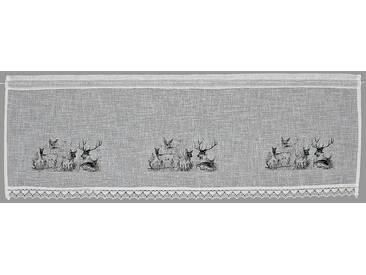 Hossner Querbehang »Bambi«, Stangendurchzug (1 Stück), Landhaus-Look, natur, Stangendurchzug, halbtransparent, beige