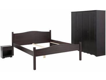 Home affaire Schlafzimmer-Set »Emden« (4-tlg.), mit 4-türigem Kleiderschrank, kolonialfarben