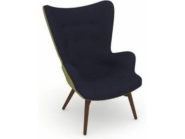Max Winzer® build-a-chair Hochlehner Stuhlsessel »Arne« im Retrolook, zum Selbstgestalten, blau, Korpus: Flachgewebe 16452 apfel