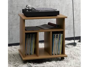 VCM Schallplatten-Möbel Retal, braun, Eiche-Rustikal