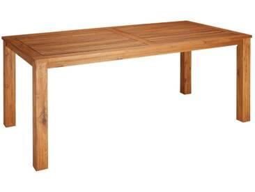 MERXX Gartentisch »Toskana«, Akazienholz, 185x90 cm, braun, braun, 90 cm x 185 cm, braun