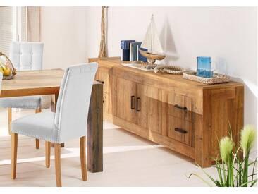Home affaire Premium Collection by Sideboard »Larengo«, Breite 210 cm, mit 2 Türen und 4 Schubladen, natur, natur
