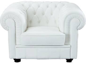 Max Winzer® Chesterfield Sessel »Kent«, mit edler Knopfheftung, weiß, altweiß