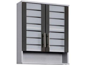Schildmeyer Hängeschrank »Nikosia« Breite 60 cm, mit Glastüren, grau, 60x70,5x20,5 (BxHxT) cm, silberfarben,anthrazit