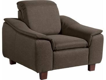 Max Winzer® Sessel »Alessio« mit abgerundeter Rückenlehne, braun, braun