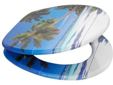 Sanilo SANILO WC-Sitz »Karibik«, mit Absenkautomatik, blau, blau/grün/sandfarben