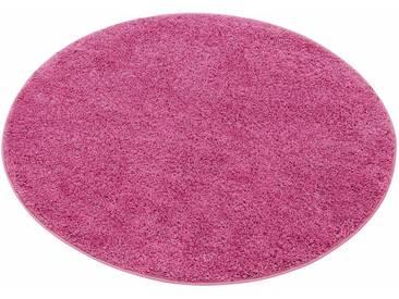 my home Hochflor-Teppich »Bodrum«, rund, Höhe 30 mm, rosa, 30 mm, rosé