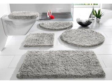my home Badematte »Sanremo« , Höhe 30 mm, Besonders weich durch Microfaser, grau, 30 mm, grau