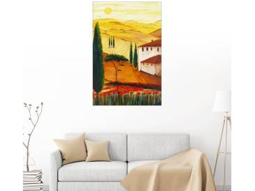 Posterlounge Wandbild - Christine Huwer »Toskanaidylle 3 heller«, bunt, Leinwandbild, 100 x 150 cm, bunt