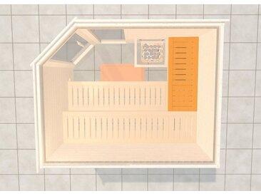 weka WEKA Saunabank »Querliege 3«, BxL: 52x125 cm, natur, 12 cm x 125 cm x 52 cm, natur