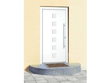 RORO Türen & Fenster Roro Aluminium-Haustür »Italien« BxH: 110 x 210 cm, weiß, weiß, rechts, weiß