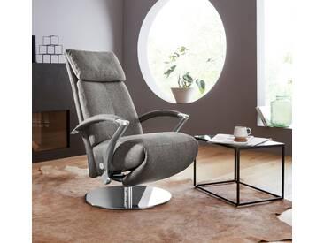 W.SCHILLIG Relaxsessel »kronos« mit Drehteller, grau, grey S22