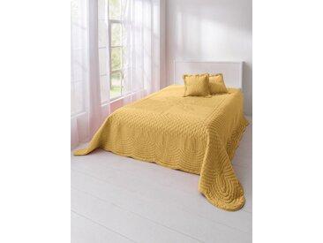 heine home Tagesdecke effektvolle Steppung, gelb, gelb