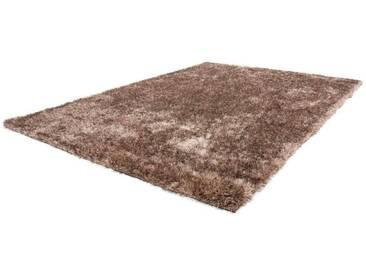 LALEE Hochflor-Teppich »Twist 600«, rechteckig, Höhe 32 mm, besonders weich durch Microfaser, braun, 32 mm, taupe