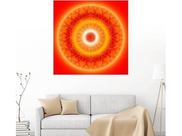 Posterlounge Wandbild - Christine Bässler »Blume des Lebens 7«, orange, Leinwandbild, 120 x 120 cm, orange